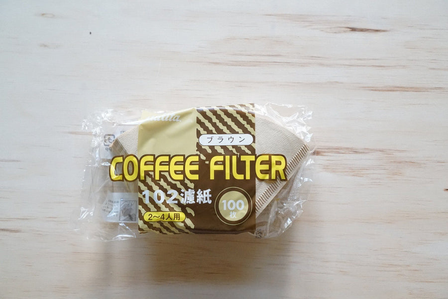 Kalita Fan Shaped Brown Paper Filter #102 / #103 100 sheets - Kurasu  - 1