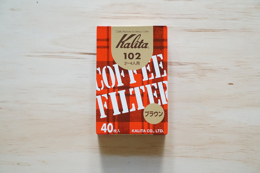 Kalita Fan Shaped Brown Paper Filter #102 / #103 40 sheets - Kurasu  - 1
