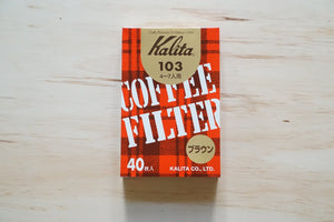 Kalita Fan Shaped Brown Paper Filter #102 / #103 40 sheets - Kurasu  - 3