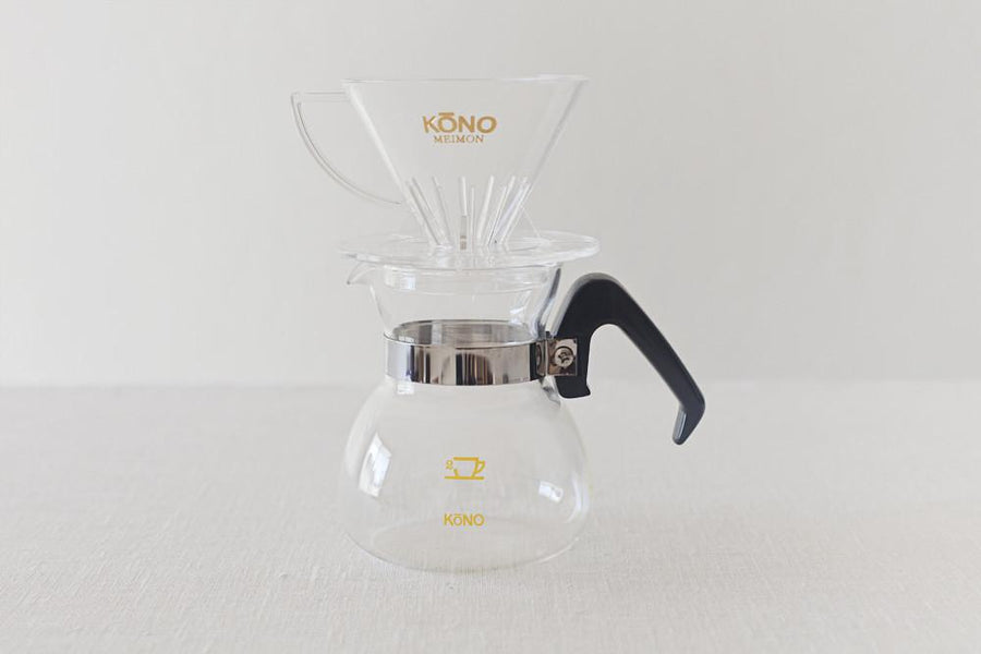 KONO Meimon 2 person coffee dripper set - Black handles Set KONO Black