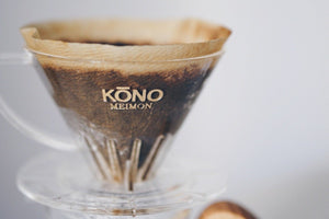 KONO Meimon 2 person coffee dripper set - Sakura Wood handles Set KONO