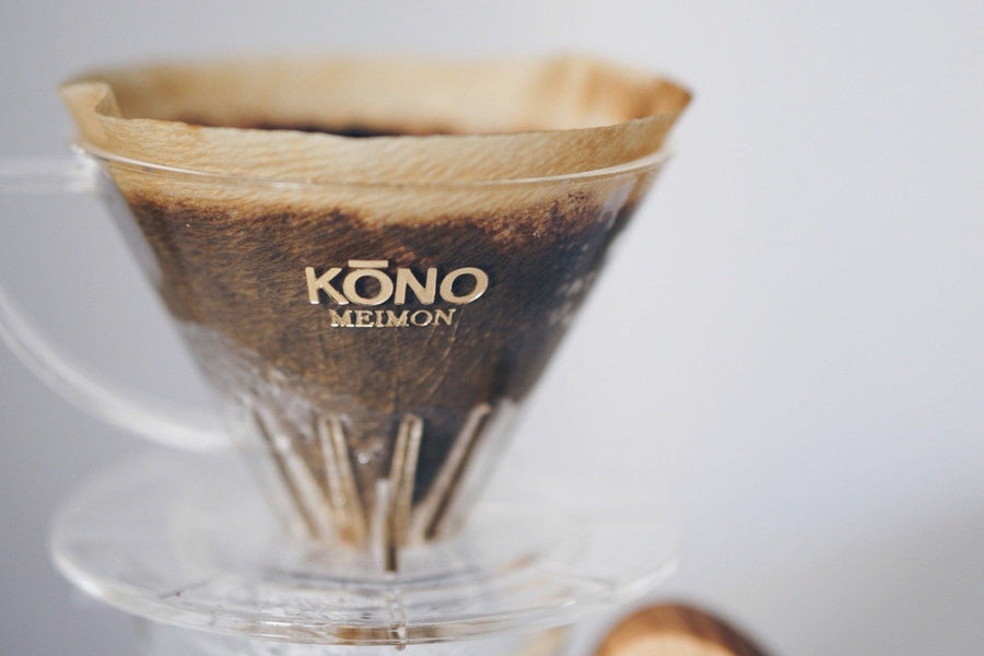 KONO Meimon 2 person coffee dripper set - Sakura Wood handles Set KONO KONO 2 person coffee dripper set - Sakura Wood handles