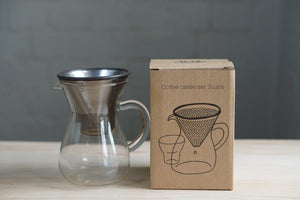 Kinto Stainless Filter Coffee Carafe Set 300ml - Kurasu  - 10