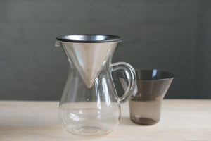 Kinto Stainless Filter Coffee Carafe Set 600ml - Kurasu  - 1