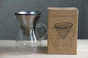 Kinto Stainless Filter Coffee Carafe Set 600ml - Kurasu  - 11