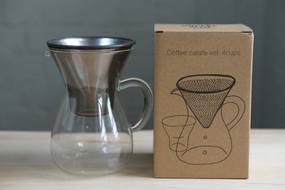 Kinto Stainless Filter Coffee Carafe Set 600ml Set Kinto