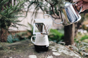 Munieq Tetra Dripper 01 Stainless + Leather Case Dripper Munieq
