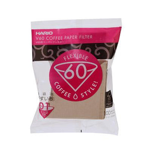 Hario V60 Brown Paper Filter 100 sheets 1-4 Cups