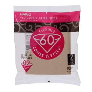Hario V60 Brown Paper Filter 100 sheets 1-2 Cups / 1-4 Cups