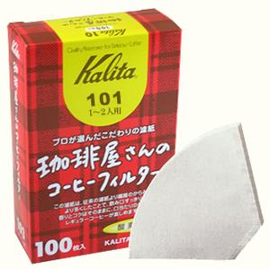 Kalita Fan Shaped Paper Filter White #101 100 sheets
