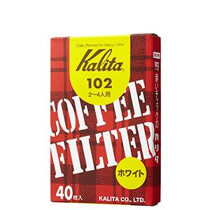 Kalita Fan Shaped White Paper Filter #101/ #102/ #103 40 sheets