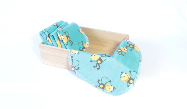 Monkey print reusable wipes