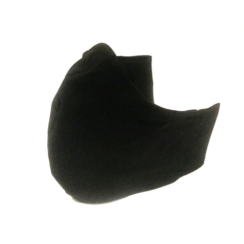 Mucky duck craft medium adult sized triple layer cotton face mask with pocket for filter and head ties In plain black
