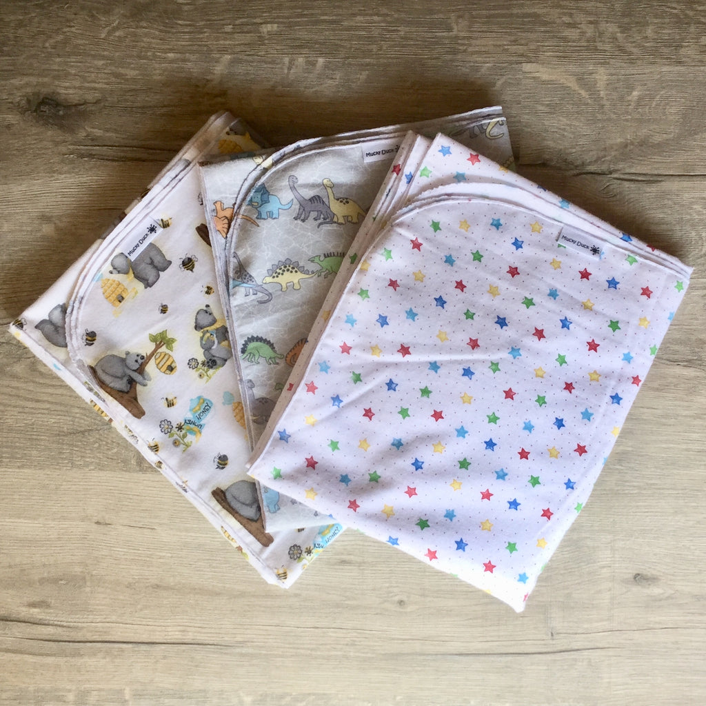 Mucky Duck extra long flannelette swaddle wraps