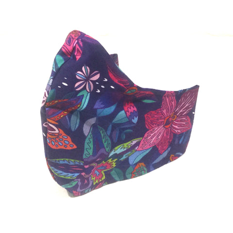 Medium Adult Fabric Face Mask - Bright Orchids