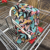 Mucky Duck charcoal zoo animals shopping trolley liner