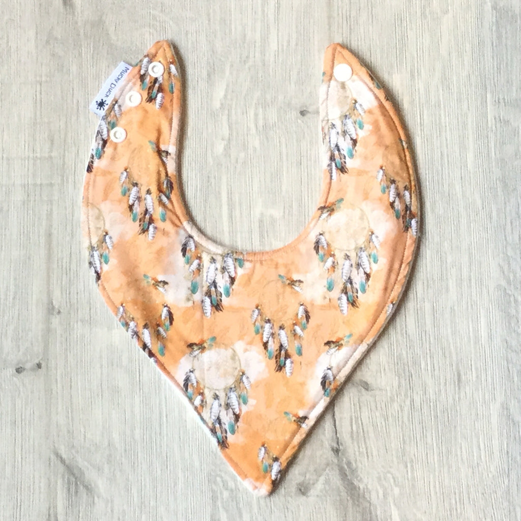 Orange Dream Catcher Bib - Hybrid Style