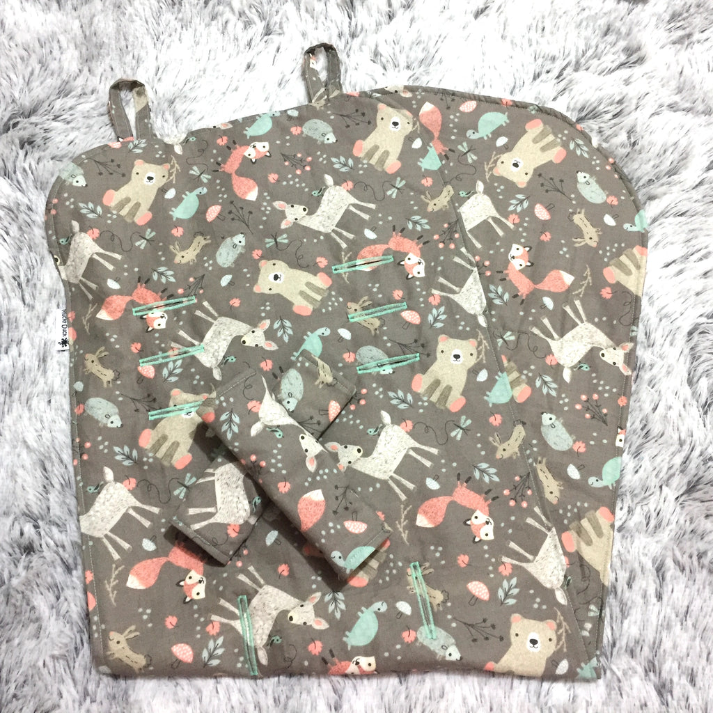 Mucky Duck woodland animals baby jogger city select pram liner