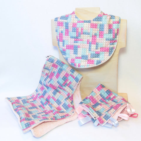 Bronze Gift Pack - Pale Pink and Pale Blue Building Blocks