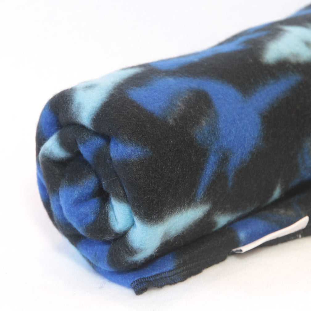 Mucky Duck Crafts Black and blue shark fleece pram blanket