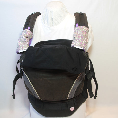 Mucky Duck grey white pink purple baby carrier strap protectors