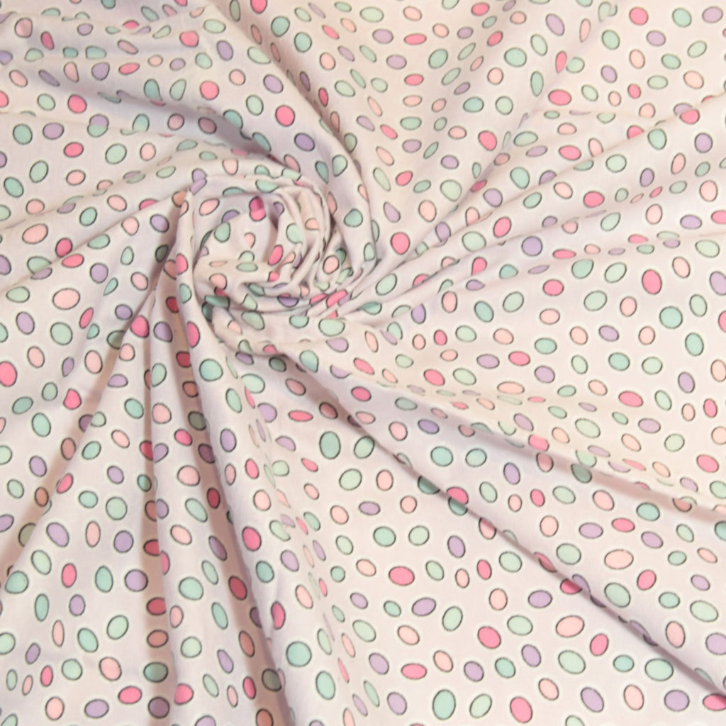 Mucky Duck Crafts pale purple with pastel dots flannelette wrap