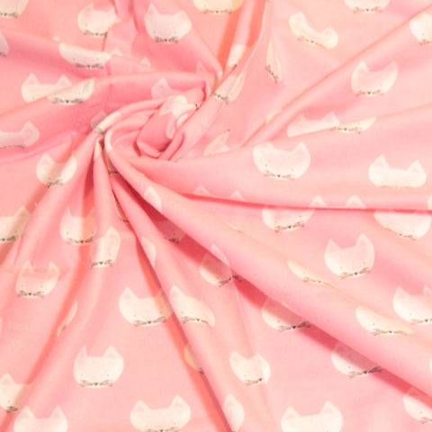 Mucky Duck Crafts pink with foxes flannelette wrap