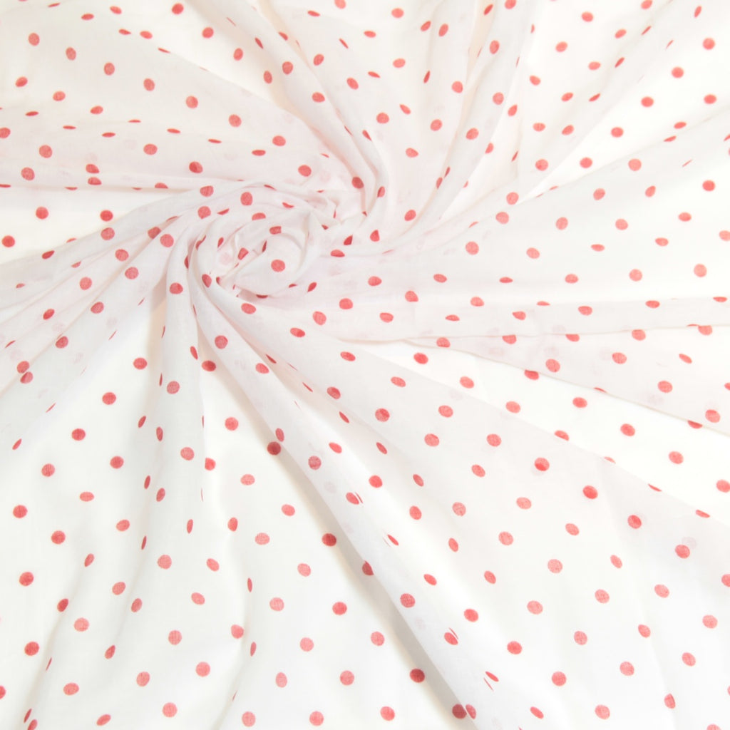 Mucky Duck white with red polka dot muslin swaddle wrap
