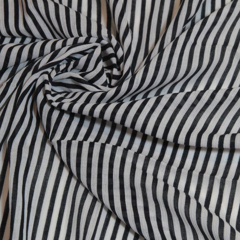 Monochrome black and white striped muslin swaddle wrap