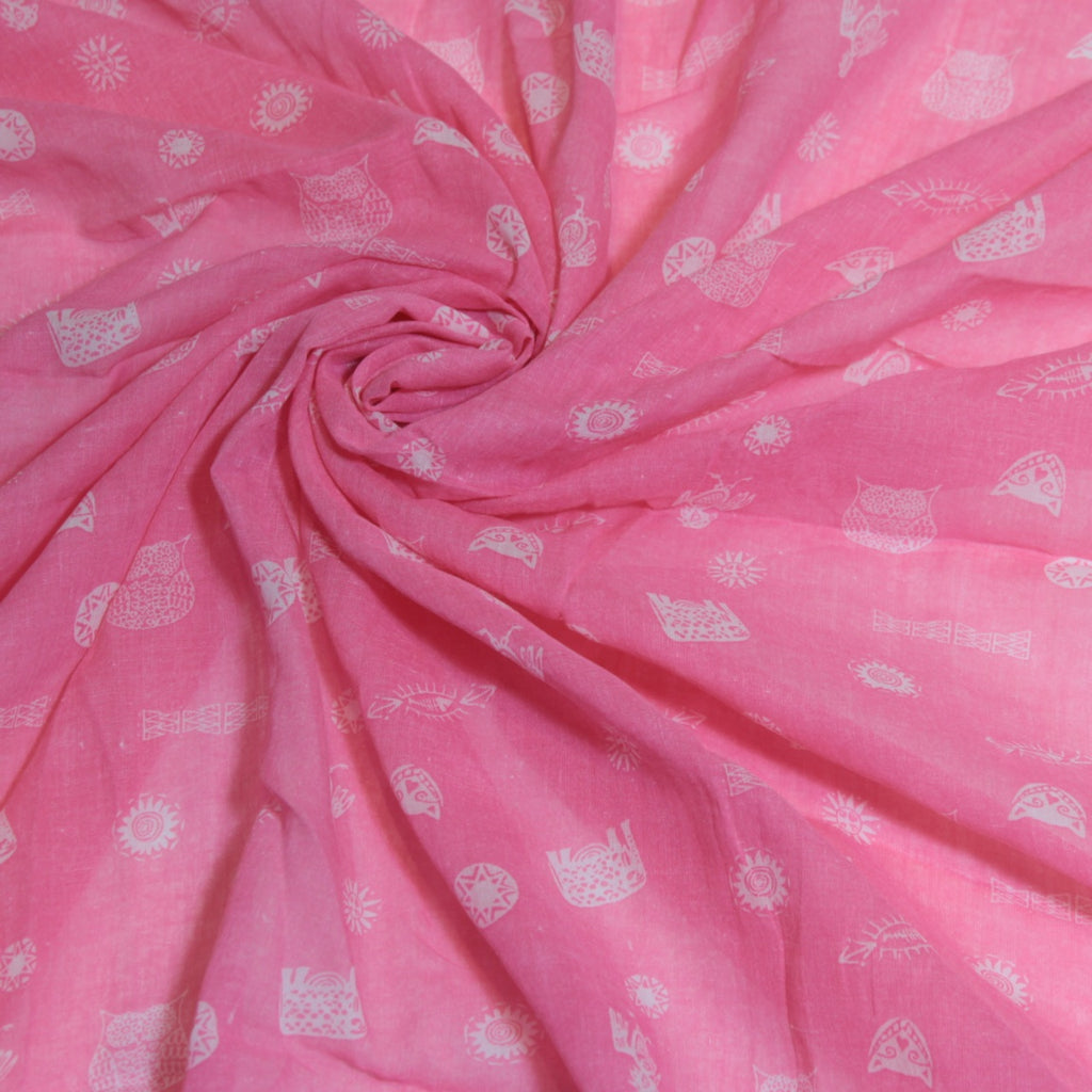 Mucky Duck Crafts pink with white aztec print muslin swaddle wrap