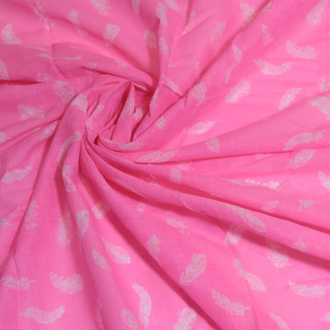 Mucky Duck Crafts pink with white feathers muslin swaddle wrap