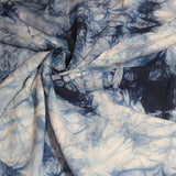 Mucky Duck large indigo dyed linen wrap