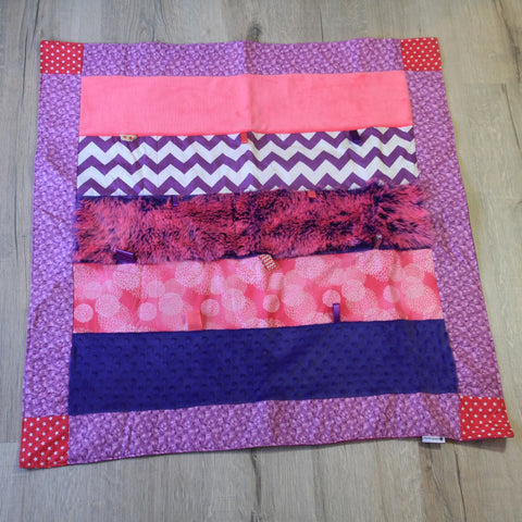 Mucky Duck Crafts small sensory playmat in bright pink and purple