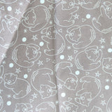 Mucky Duck Crafts adult medium sized fabric reusable face mask with pocket in  grey with pale blue bears and stars
