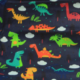 Mucky Duck Crafts adult medium sized fabric reusable face mask with pocket in  navy with multi coloured dinosaurs