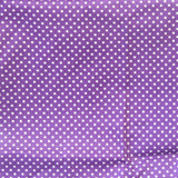 Mucky Duck Crafts adult medium sized fabric reusable face mask with pocket in purple with white dots