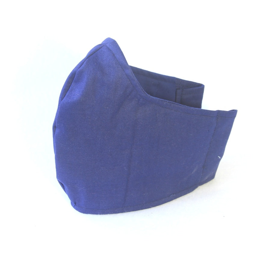 Large Adult Fabric Face Mask - Navy