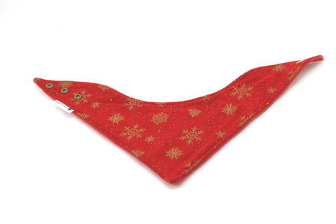 Mucky Duck red with gold bandana dribble bib