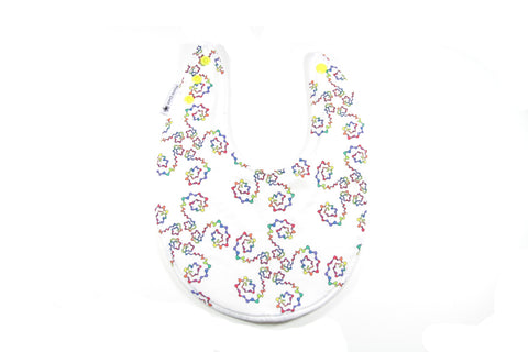 Mucky Duck rainbow swirls dribble bib