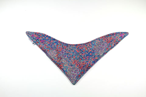 Mucky Duck pink purple peacock bandana dribble bib