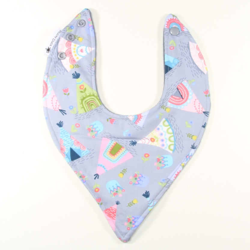 Grey and Pastel Tee Pees Dribble Bib - Hybrid Style