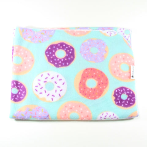 Mucky Duck mint doughnuts fleece pram blanket