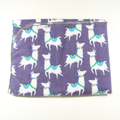 Mucky Duck llama fleece pram blanket