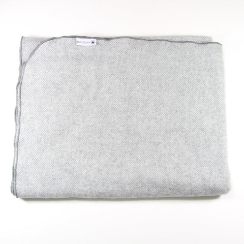Mucky Duck grey alpaca wool pram blanket