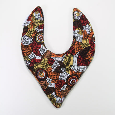 Aboriginal art bandana dribble bib