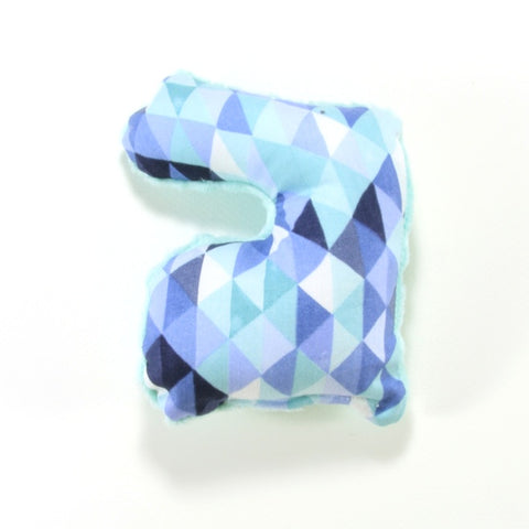 Mucky Duck Blue Mint Geometric Easter Bunny Rattle Toy