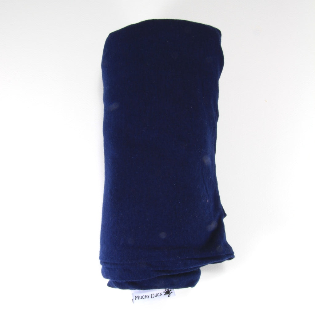 Mucky Duck infinity scarf nursing cover in navy blue
