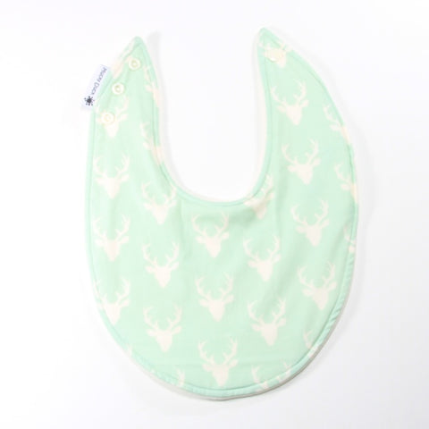 Mint Stag Dribble Bib - Regular Style