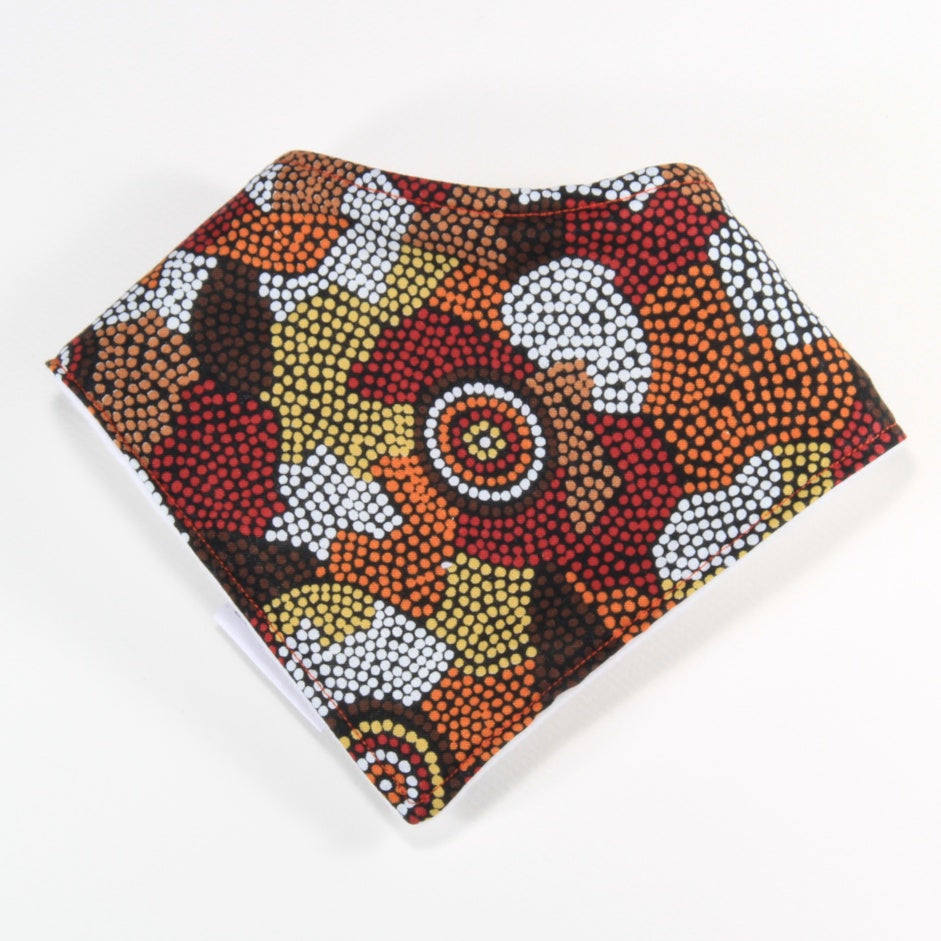 Aboriginal art dribble bib