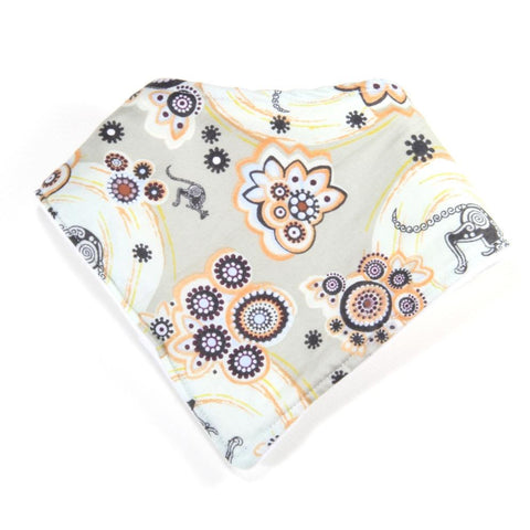 Aboriginal Circles and Kangaroos Dribble Bib - Bandana Style
